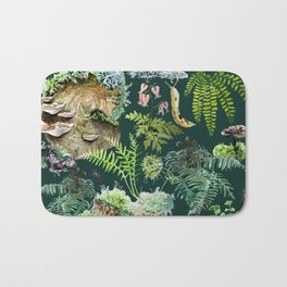 Fungi & Ferns Green Bath Mat