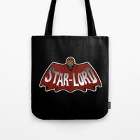 star lord Tote Bags featuring Star Lord logo by Buby87
