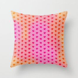 Warm colors semicircles pattern Throw Pillow