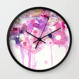 To Be, To Have, To Become Wall Clock