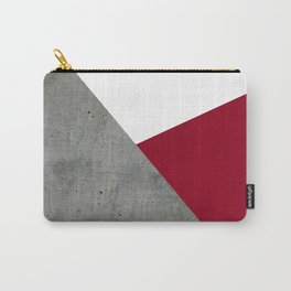 Concrete Burgundy Red White Carry-All Pouch