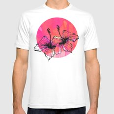 Summer Pink Mens Fitted Tee White MEDIUM
