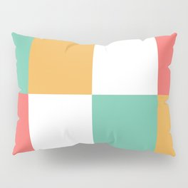 Minimal Abstract Lucite green, Coral, Grey, Honey, and White 14 Pillow Sham