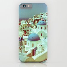 Santorini in Raspberry and Blue: shot using Revolog 600nm special effects film Slim Case iPhone 6s