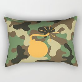 CAMO & ORANGE BOMB DIGGITY Rectangular Pillow