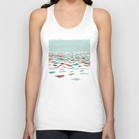 minimal Tank Tops featuring Sea Recollection by Efi Tolia