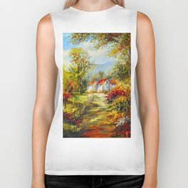 Autumn sonnet Biker Tank