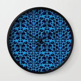 Blue Shades Animal Print Wall Clock