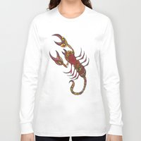 tatoo Long Sleeve T-shirts featuring Tatoo Scorpion by PepperDsArt
