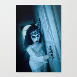 The Woman in White Canvas Print