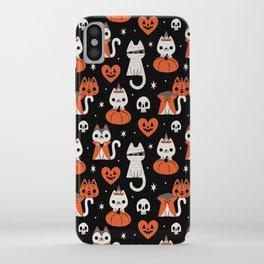 Halloween Kitties (Black) iPhone Case
