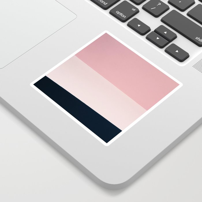 Pink & Naval & Rose Abstract Background Sticker