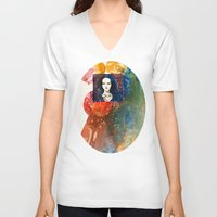 lucy V-neck T-shirts featuring Lucy by Ecsentrik