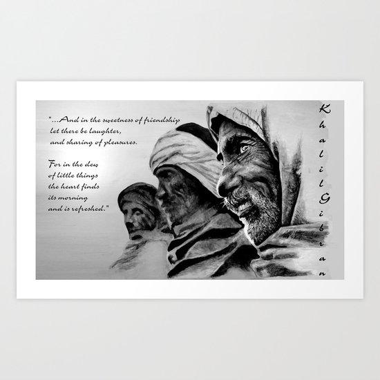 FRIENDSHIP quote Art Print
