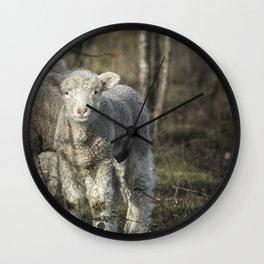 Winter Lamb Wall Clock