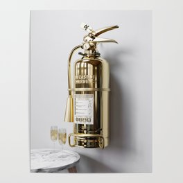 In Case Of Emergency - Champagne Extinguisher - Luxury Edition Poster
