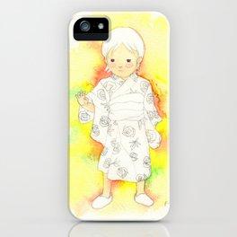 kimono girl rainbow iPhone Case