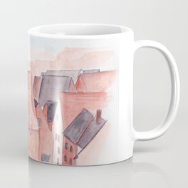 Small town watercolor illustration Coffee Mug