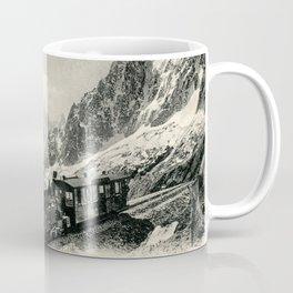 Antique train rack railway near Mont Blanc French Alps Coffee Mug