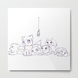 Cat's Metal Print