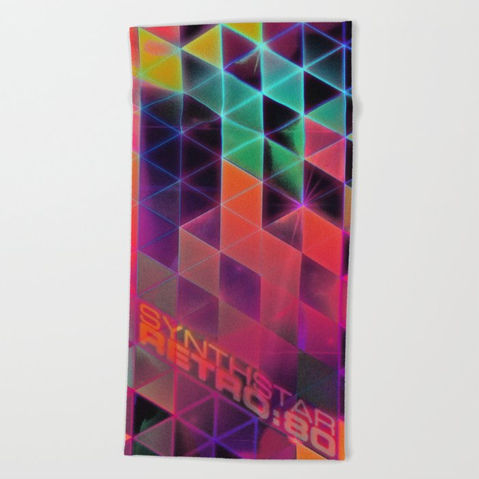 synthstar retro:80 Beach Towel