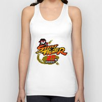 street fighter Tank Tops featuring street fighter 25th anniversary by Hisham Al Riyami