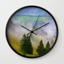 Up the Mountain Wall Clock
