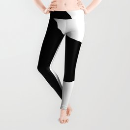 Schnauzer Silhouette Leggings