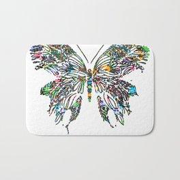 Butterfly Digital Drawing Bath Mat