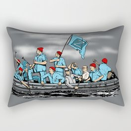 Team Zissou Crossing the Delaware Rectangular Pillow
