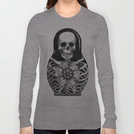 Matryoshka Skelton Doll Long Sleeve T-shirt