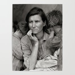 Migrant Mother, 1936. Vintage Photo Poster