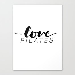 love pilates Canvas Print