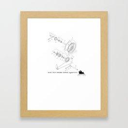 Motorbike diagram  Framed Art Print