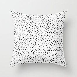 Polka Dots | Black and white pattern Throw Pillow