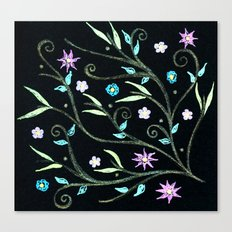 Flowering midnight Canvas Print