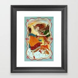 Sunrise dance Framed Art Print