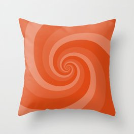 orange vortex Throw Pillow