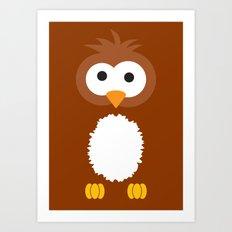 Minimal Owl Art Print