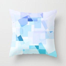Blue Geometric Pattern Throw Pillow