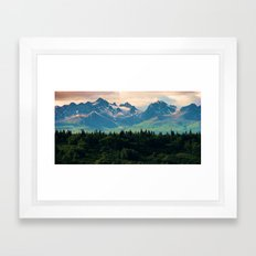 Escaping from woodland heights II Framed Art Print