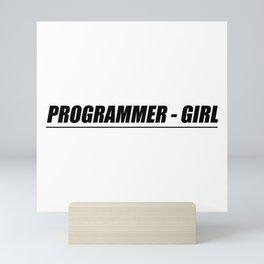 Programmer - Girl Mini Art Print