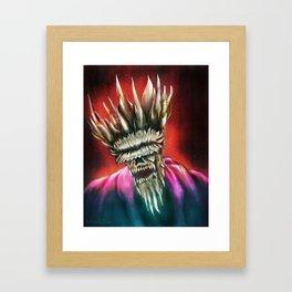 Zombie King Framed Art Print