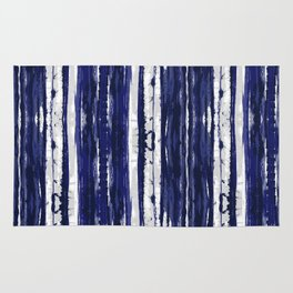 Hand Drawn Ikat Stripe Rug