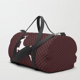 Red Black Plaid Christmas Duffle Bag