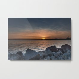 Glowing Sea Metal Print