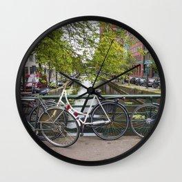 Dutch Bicycles Wall Clock