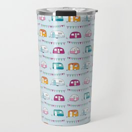 Caravans with bunting Travel Mug