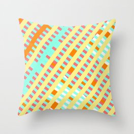 African Inspired Tropical Thatch Print Throw Pillow