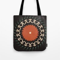 tool Tote Bags featuring Tool & Die by See Kevin Design